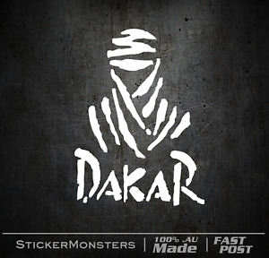 DAKAR RALLY Sticker Decal 130mmH MotorBike Car Off Road Racing Pajero