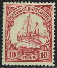 GERMAN SOUTH WEST AFRICA 1901 YACHT 10PF MNH ** NO WMK