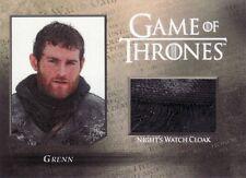 Game of Thrones Season 5 Grenn Night Watch Cloak CC3 Relic Card 209/250