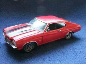 Franklin Mint 1970 Chevelle SS 1/24 Scale Red - missing part UNBOXED