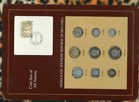Coin Sets of All Nations Sri Lanka UNC 1978-1988 5 Rupees 1986 SCARCE SET