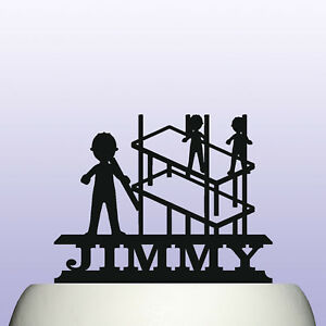 Personalised Acrylic Scaffolding Birthday Cake Topper Decoration for Scaffolders