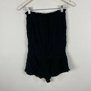 Seafolly Womens Playsuit Romper Size Small Black Strapless Stretch 51.05