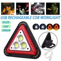 4IN1 Emergency Work Light 50W 33LED COB USB Rechargeable Searchlight Flood Lamp