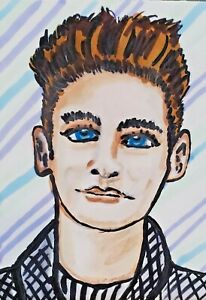 Morrissey The Smiths ACEO PRINT Mini Art Card 2.5 X 3.5 by KSAMS 80s Collectible