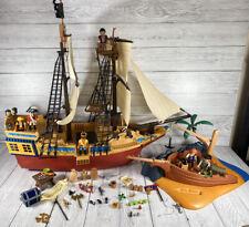 Playmobil Pirate Treasure Ship 4290 & Pirate Shipwreck Island 4136 Accessories