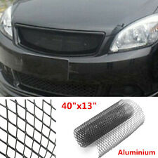 Universal 100×33cm Aluminium Car Body Bumper Rhombus Grille Net Mesh Grill Kit