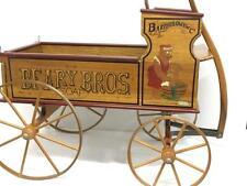 Hard to Find Bartholomew Beary Bros Wood Wagon Cart Bear Collection Display 1992