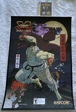 2019 SDCC STREET FIGHTER 5 Capcom SFV POSTER - SIGNED YOSHINORI ONO Autograph