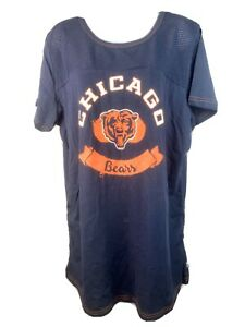 NFL Chicago Bears Ladies Navy Mesh Top Solid Bottom Maternity T-shirt