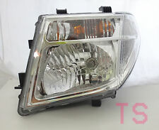 CHROME LEFT LH HEAD LIGHT LAMP FOR FRONTIER PATHFINDER NAVARA D40 06-14 GENUINE