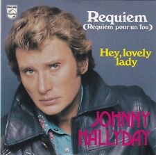 CD 2 titres JOHNNY HALLYDAY REQUIEM (requiem pour un fou)  ** HEY LOVELY LADY