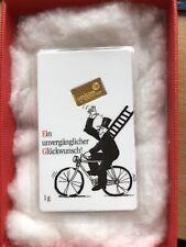 1 Gramm Goldbarren 999.9 Umicore Feingold