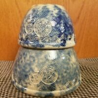 Shadowlawn Pottery Stoneware Spongeware Bowl Set