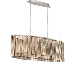 """Deckenleuchte, Lampe, Deckenlampe Eglo """"SENDERO"""" Holzschirm 78 cm 2-flg. 357730"""