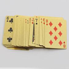 Appealing High Grade 24K Gold Foil Poker Lattice Grid Pattern Playing Cards UK