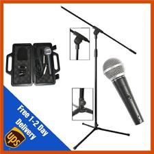 Microphone + Microphone Stand + Mic Clip + XLR Cable | Boom Stand | Mic Bundle