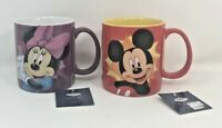 Westland Giftware Disney Mickey Mouse & Minnie Mouse Coffee Mugs 14 oz New