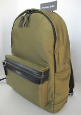 NWT MICHAEL KORS Kent Backpack in Military Green Nylon