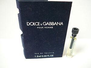 Dolce&Gabbana Pour Homme splash vial 1.5ml