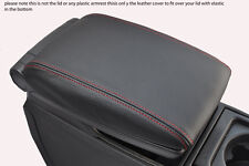 red stitch FITS VOLVO V70 XC70 00-07 LEATHER ARMREST COVER ONLY