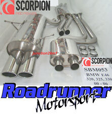 SCORPION Performance Exhaust BMW 320 325 330 E46 Sistema Gatto posteriore (00-06) SBM053