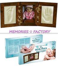 BABY CORNICE FOTO CON STAMPE memoria-BABY FOOT (piedi) & hand print CASTING KIT