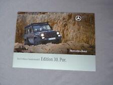 Mercedes Benz G Klasse Sondermodell Edition 30 Pur W461 Prospekt 2009 Katalog