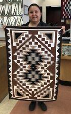 Native American Navajo  Handmade Rug Two Gray Hills Design * Brenda Wilson *