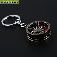 Wheel Rim Tuning Mini Keychain Key Chain Keyring With Brake Disc Pendent Alloy