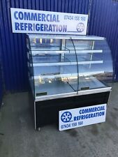 Glass Fronted Patisserie Cake Display Fridge Chiller Serve Over Counter Catering