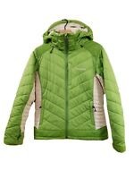 Patagonia Rubicon Rider Women's (M) Green Puffer Hooded Jacket Ski Snow RARE!