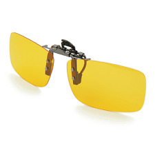 Besgoods Yellow Night Vision Polarized Clip-on Flip up Metal Clip Sunglasses