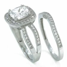 simulated diamond - Cheap Sterling Silver Wedding Rings