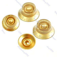 4pcs Guitar Speed Knob for Les Paul Gold Brown Volume Tone Sets
