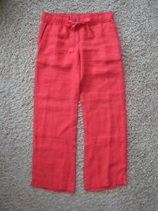 Ann Taylor Loft Red Linen Beach Pants Size XXSP NWT