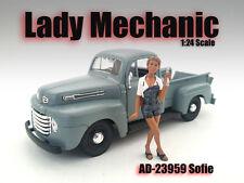 FEMALE MECHANIC - Sofie - 1/24-G Scale figure/figurine - American Diorama