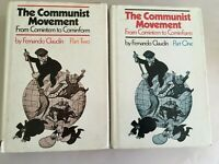 THE COMMUNIST MOVEMENT by Fernando Claudin 2 VOLUMES hardcover COMMUNISM