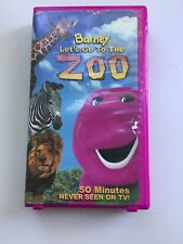 BARNEY LET'S GO TO THE ZOO VHS CLAMSHELL PURPLE DINOSAUR 2001