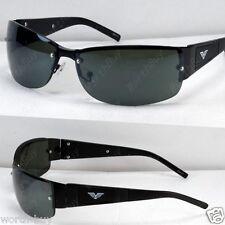 New Mens Black Frame Green Lens  Rectangular Sunglasses Shades Sport Designer