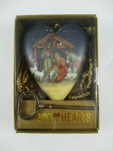 """Demadco Art Hearts Sculpture Christmas Nativity with Key Ornament New 3"""""""