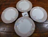 Set of 4 Salad Plates Mikasa Charisma Beige Floral Dinnerware L 9048 Japan 7.5""