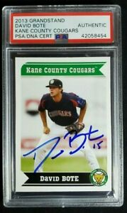 2013 Kane County Cougars David Bote Signed Minor Rookie Auto RC PSA/DNA Cubs