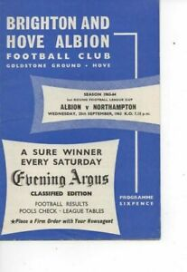 Brighton & Hove Albion v Northampton Town 1963/64 League Cup 2nd Round
