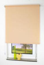 Springrollo Seitenzugrollo, Maßanfertigung für Fenster und Türen, Farbe: sand