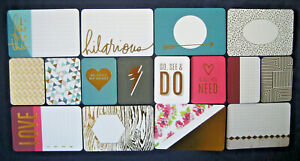 """'PRISMATIC' FOIL PROJECT LIFE CARDS BY BECKY HIGGINS - 6""""X4"""" & 3""""X4"""""""