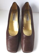 """Women's Shoes BRUNO MAGLI Brown Leather Size 7.5 Heels Pumps 2"""""""