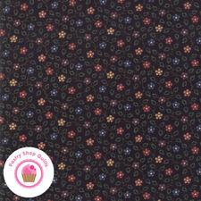 Moda Milestones 9612 19 Black Floral Kansas Troubles Quilt Fabric