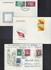 GERMANY 1950's COLLECTION OF 25 FDCs ALL DIFFERENT SPECIAL TOWN CANCELS MOST CAN