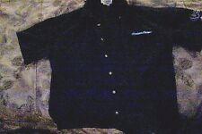 HUDSON NEWS GROUP-Retail Employee Uniform Shirt-Blue-Short Sleeve-Size:L-Large